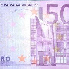 Billetes españoles: 500 EUROS DE LA PRIMERA FIRMA DE DUISEMBERG DISEÑO DEL AÑO 2002, PLANCHA T001. Lote 194210828