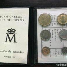 Billetes españoles: CARTERA DE MONEDAS DE ESPAÑA - JUAN CARLOS I - 1989 - SIN CIRCULAR. Lote 194249996
