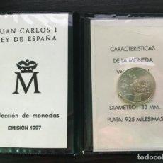 Billetes españoles: CARTERA DE MONEDA DE ESPAÑA - JUAN CARLOS I - 1997 - 2000 PESETAS CERVANTES PLATA SIN CIRCULAR. Lote 194250448