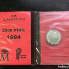 Billetes españoles: CARTERA DE MONEDA DE ESPAÑA - JUAN CARLOS I - 1994 - 2000 PESETAS ASAMBLEA FMI PLATA SIN CIRCULAR. Lote 194250528