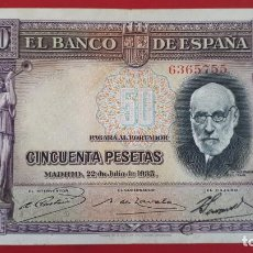 Billetes españoles: BILLETE 50 PESETAS 1935 MBC SIN SERIE ORIGINAL T755. Lote 194279602