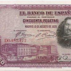 Billetes españoles: ESPAÑA 50 PESETAS 1928 MBC. Lote 194281720