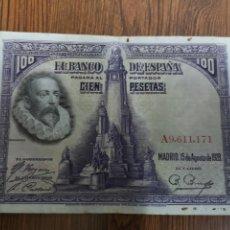 Billetes españoles: A1. BILLETE DE 100 PESETAS. 1928. Lote 194294396