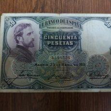 Billetes españoles: A1. BILLETE DE 50 PTAS DE 1931. Lote 194294436