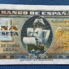 Billetes españoles: 1 PESETA 1940 CALIDAD PLANCHA. Lote 194301746