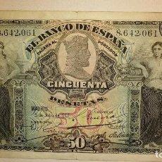 Billetes españoles: BILLETE CLASICO BANCO ESPAÑA 1907. Lote 194487970