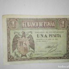 Billetes españoles: BILLETE DE BURGOS DE 1 PESETA DE BURGOS DEL 30 DE ABRIL DEL AÑO 1938 . Lote 194520171
