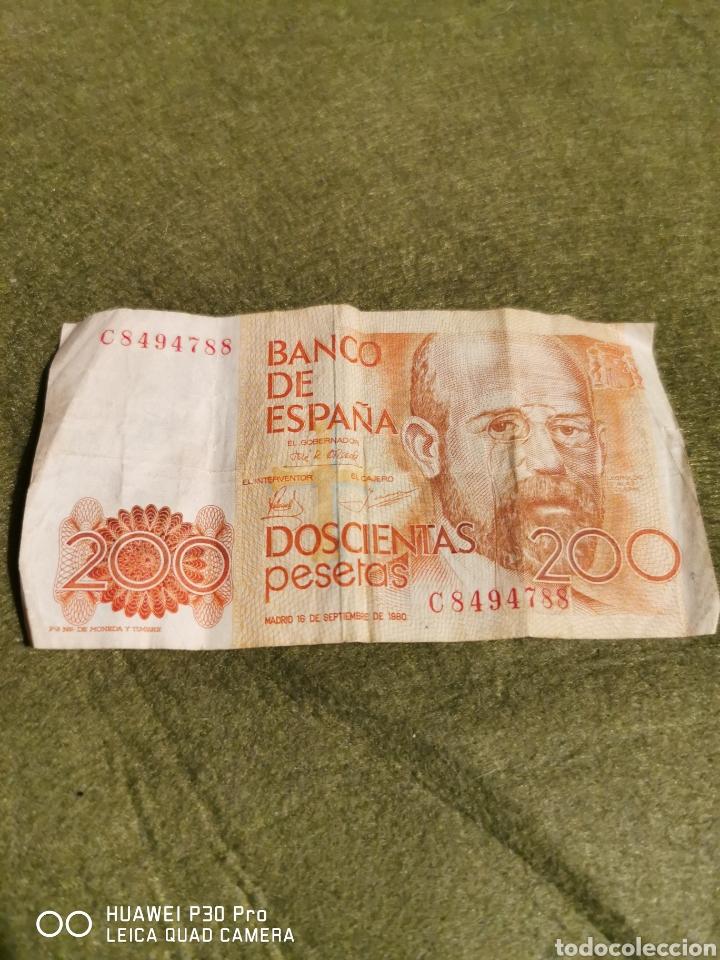 BILLETE 200 PESETAS AÑO 1980 (Numismática - Notafilia - Billetes Españoles)