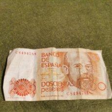 Billetes españoles: BILLETE 200 PESETAS AÑO 1980. Lote 194525901