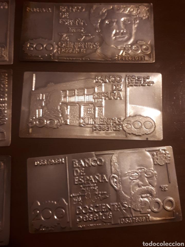 Billetes españoles: 11p .Colección de billetes españolas en plata - Foto 4 - 194533611