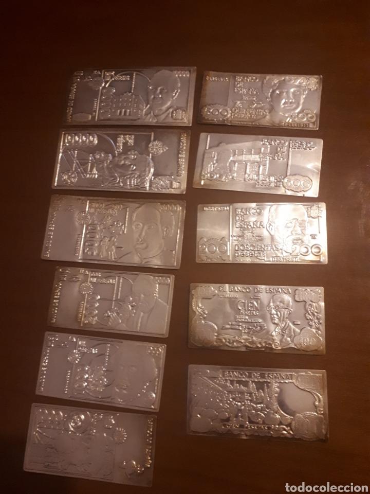Billetes españoles: 11p .Colección de billetes españolas en plata - Foto 6 - 194533611