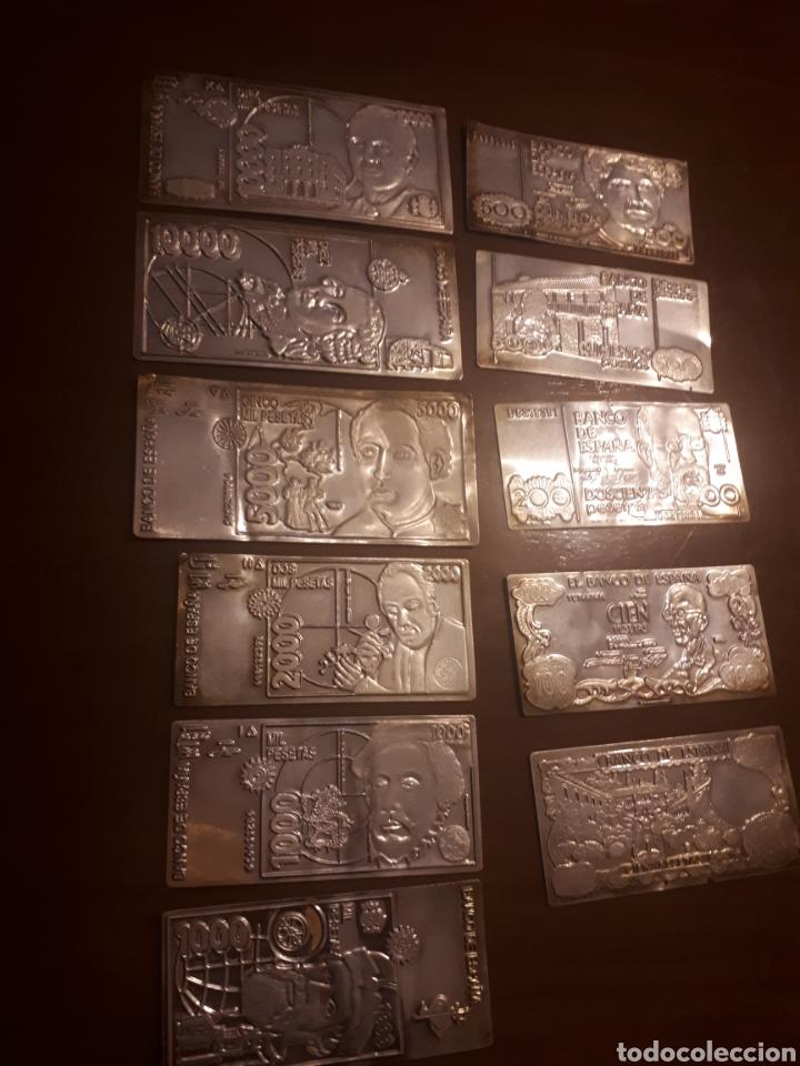 11P .COLECCIÓN DE BILLETES ESPAÑOLAS EN PLATA (Numismática - Notafilia - Billetes Españoles)
