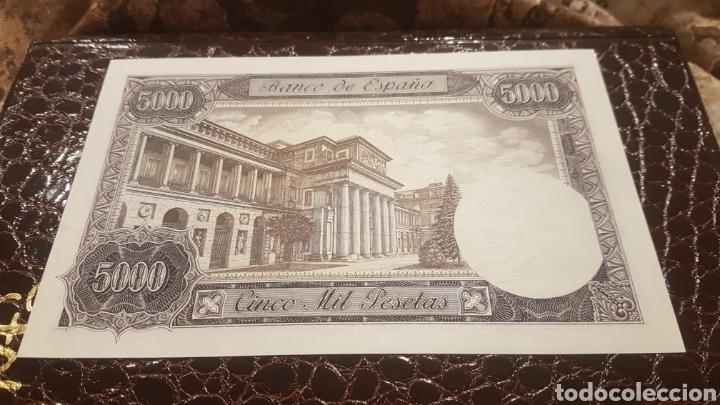 Billetes españoles: Billete 5000 pesetas año 1976 sin serie y sin circular - Foto 2 - 194537107