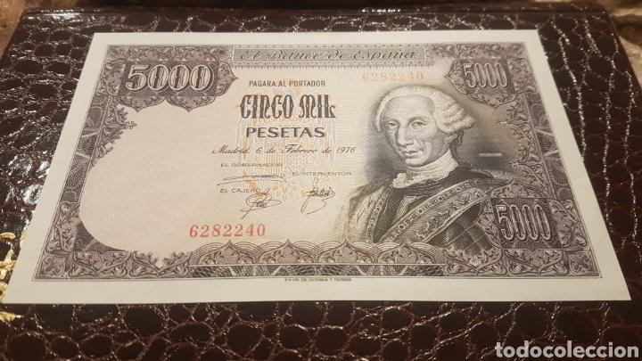 BILLETE 5000 PESETAS AÑO 1976 SIN SERIE Y SIN CIRCULAR (Numismática - Notafilia - Billetes Españoles)