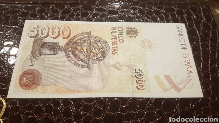 Billetes españoles: Billete 5000 pesetas sin serie y sin circular - Foto 2 - 194537996