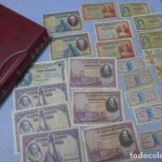 Billetes españoles: * LOTE COLECCION DE 24 BILLETES ANTIGUOS ESPAÑOLES + ALBUM. ZX. Lote 194538502