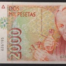 Billetes españoles: CMC 2000 PESETAS 24 ABRIL 1992 MUTIS SIN SERIE SIN CIRCULAR. Lote 194543920