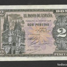 Billetes españoles: 2 PESETAS 1938 SERIE N S/C-. Lote 194555833