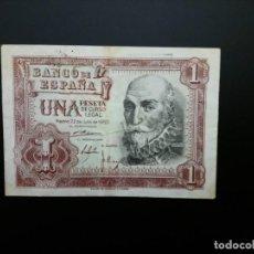 Billetes españoles: BILLETE DE 1 PTA DE 1953 .....ES EL DE LAS FOTOS. Lote 194579171