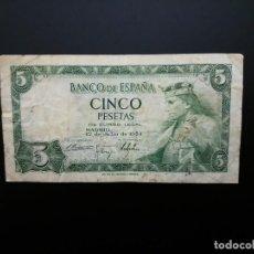 Billetes españoles: BILLETE DE 5 PTAS DE 1954 .....ES EL DE LAS FOTOS. Lote 194579465