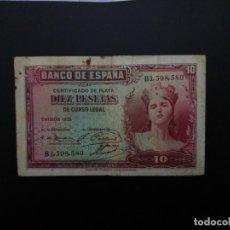 Billetes españoles: BILLETE DE 10 PTAS DE 1935. .....ES EL DE LAS FOTOS. Lote 194579641