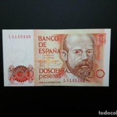 Billetes españoles: BILLETE DE, 200 PTAS DE 1980.. SERIE L.. SIN CIRCULAR . .....ES EL DE LAS FOTOS. Lote 194581623