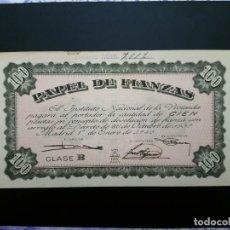 Billetes españoles: BILLETE DE, 100 PTAS.. 1940.. PAPEL DE FINANANZAS .....ES EL DE LAS FOTOS. Lote 194582220