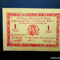 Billetes españoles: BILLETE DE 1 PTA DE 1937 CONSEJO MUNICIPAL DE TOTANA.. GUERRA CIVIL. .....ES EL DE LAS FOTOS. Lote 194598146