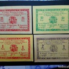Billetes españoles: LOTE DE 4 BILLETES DE 1937 CONSEJO MUNICIPAL DE TOTANA. . GUERRA CIVIL.....ES EL DE LAS FOTOS. Lote 194599787
