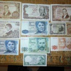 Billetes españoles: ANTIGUOS BILLETES DE ESPAÑA PESETAS VER SERIES, PRECIO NO REAL SI LE INTERESA CONSULTENOS. Lote 194631617
