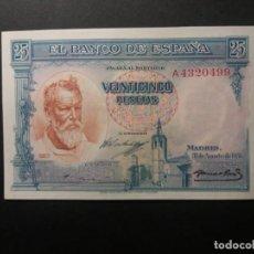 Billetes españoles: BILLETE DE 25 PESETAS DE 1936 SOROLLA BANCO DE ESPAÑA SC DE TACO. Lote 194701657