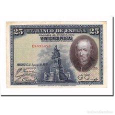 Billetes españoles: BILLETE, 25 PESETAS, 1928, ESPAÑA, 1928-08-15, KM:74B, MBC+. Lote 194763952