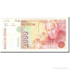 Billetes españoles: BILLETE, 2000 PESETAS, 1992, ESPAÑA, 1992-04-24, KM:164, MBC+. Lote 194775897
