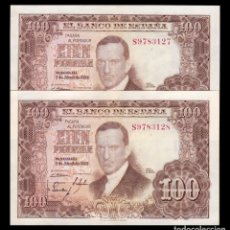 Billetes españoles: ESPAÑA PAREJA 100 PESETAS J ROMERO DE TORRES 1953 PICK 145 SERIE S MBC+ VF+. Lote 194779083