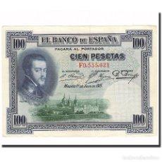 Billetes españoles: BILLETE, 100 PESETAS, 1925, ESPAÑA, 1925-07-01, KM:69C, EBC+. Lote 194779631