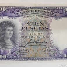 Billetes españoles: BILLETE CIEN PESETAS 1931. Lote 194782578