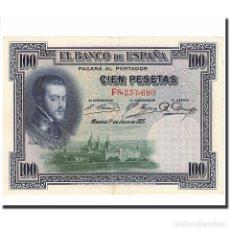 Billetes españoles: BILLETE, 100 PESETAS, 1925, ESPAÑA, 1925-07-01, KM:69C, EBC+. Lote 194889821