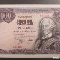 Billetes españoles: BILLETE 5000 PESETAS 1976 CARLOS III. SIN SERIE. SIN CIRCULAR. PLANCHA.. Lote 194890730