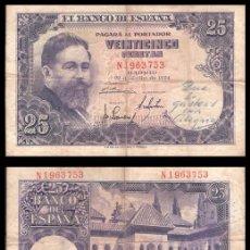 Billetes españoles: ESPAÑA, 25 PESETAS 1954 (ISAAC ALBENIZ) MBC-. Lote 194937260