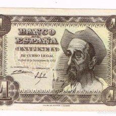 Billetes españoles: BILLETE 1 PESETA DE CURSO LEGAL - 19-NOVIEMBRE-1951. Lote 194938992