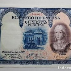 Billetes españoles: PRECIOSO BILLETE 500 PESETAS 1927 EBC ****PAGO SOLO PAYPAL****. Lote 194951263