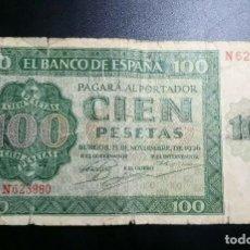 Billetes españoles: BILLETE 100 PESETAS 1936 ***PAGO SOLO PAYPAL****. Lote 194951532
