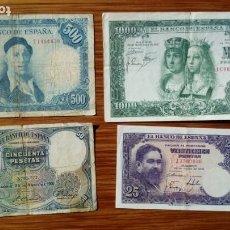 Billetes españoles: ESPAÑA BILLETES VARIOS. Lote 194986878