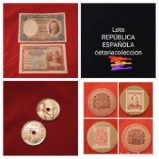 Billetes españoles: LOTE REPÚBLICA ESPAÑOLA. LEER DESCRIPCIÓN,VER FOTOS. Lote 195141415