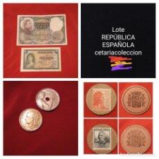 Billetes españoles: LOTE REPÚBLICA ESPAÑOLA. LEER DESCRIPCIÓN,VER FOTOS. Lote 195141911