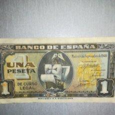 Billetes españoles: BILLETE DE 1 PESETA DE 1940. Lote 195161355