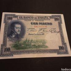 Billetes españoles: BILLETE 100 PESETAS ESPAÑA ALFONSO XIII II REPÚBLICA. Lote 195240023