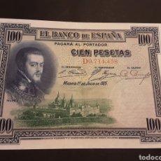 Billetes españoles: BILLETE 100 PESETAS ESPAÑA ALFONSO XIII II REPÚBLICA 1 JULIO DE 1925. Lote 195240223