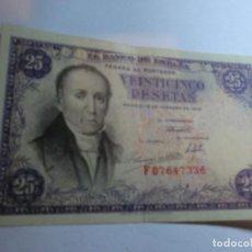 Billetes españoles: BILLETE DE VEINTICINCO PESETAS DE 1946 F07647336 ,MUY BUEN ESTADO!!. Lote 195247253