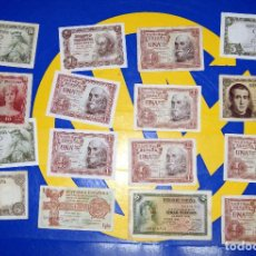 Billetes españoles: LOTE 16 BILLETES ANTIGUOS ESPAÑA PESETAS BILLETES ESPAÑOLES (ALGUNOS REPETIDOS). Lote 195249423